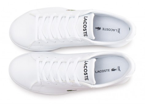Chaussures Lacoste Carnaby blanche junior vue arrière
