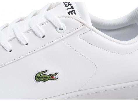 Chaussures Lacoste Carnaby blanche junior vue dessus