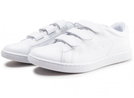 Chaussures Lacoste Carnaby blanche femme vue intérieure