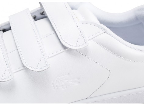 Chaussures Lacoste Carnaby blanche femme vue dessus