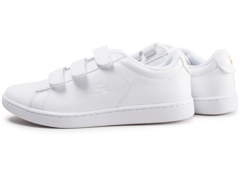 Chaussures Lacoste Carnaby blanche femme vue extérieure