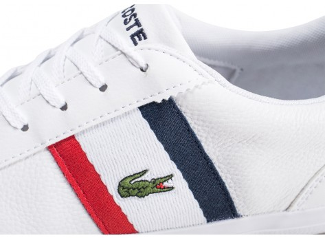 Chaussures Lacoste Lerond 119 blanche  vue dessus