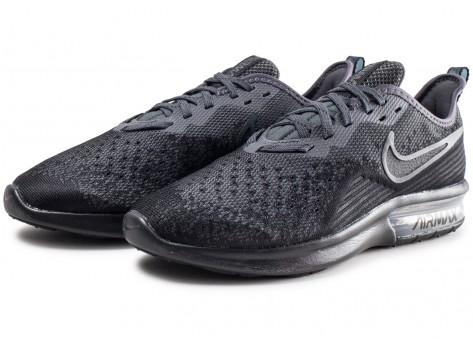 Chaussures Nike Air Max Sequent 4 noir anthracite  vue intérieure
