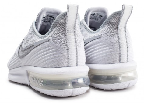Chaussures Nike Air Max Sequent 4 blanc gris  vue dessous