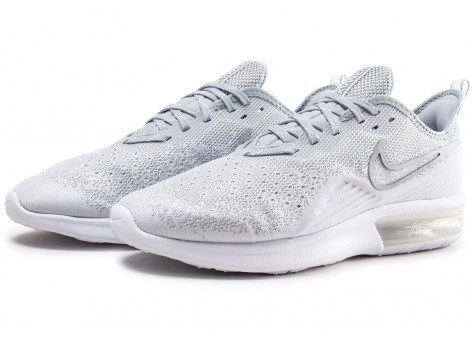 Chaussures Nike Air Max Sequent 4 blanc gris  vue intérieure