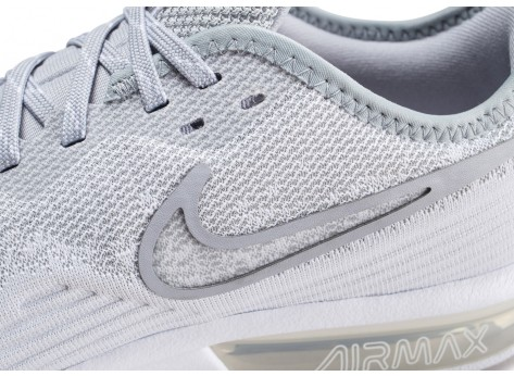 Chaussures Nike Air Max Sequent 4 blanc gris  vue dessus