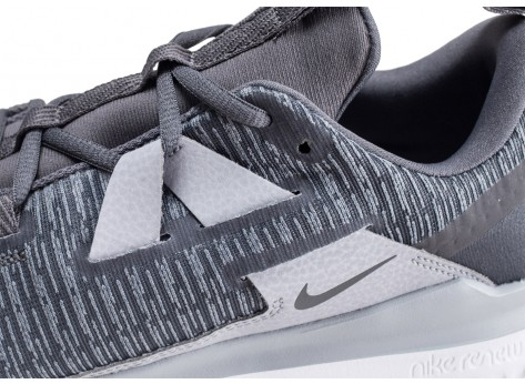 Chaussures Nike Renew Arena grise et blanche vue dessus