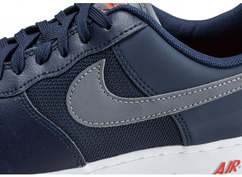 Chaussures Nike Air Force 1 '07 LV8 bleue vue dessus