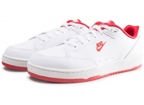 Chaussures Nike Grandstand 2 blanche et rouge  vue intérieure