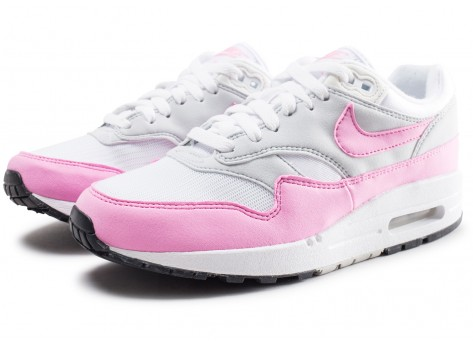 Chaussures Nike Air Max Essential 1 blanche et rose femme vue intérieure