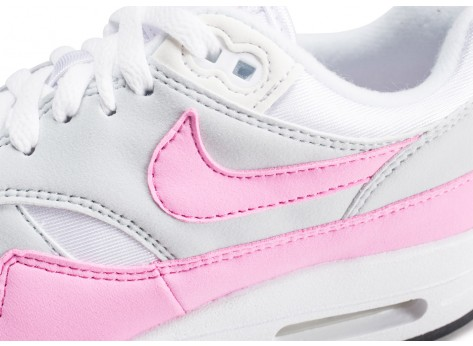 Chaussures Nike Air Max Essential 1 blanche et rose femme vue dessus