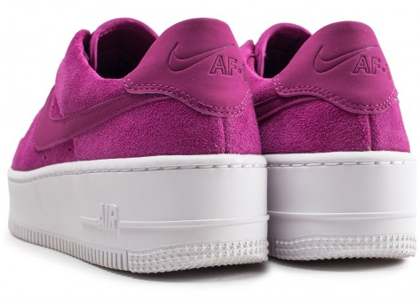 Chaussures Nike Air Force 1 Sage Low rose fuchsia femme vue dessous