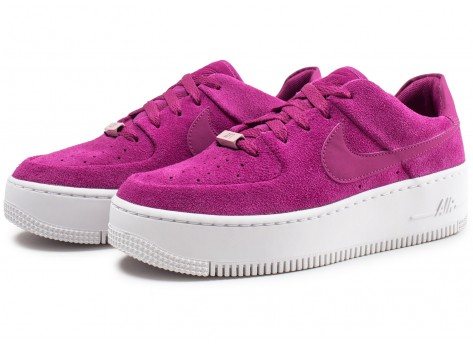 Chaussures Nike Air Force 1 Sage Low rose fuchsia femme vue intérieure