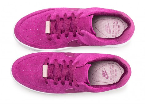 Chaussures Nike Air Force 1 Sage Low rose fuchsia femme vue arrière
