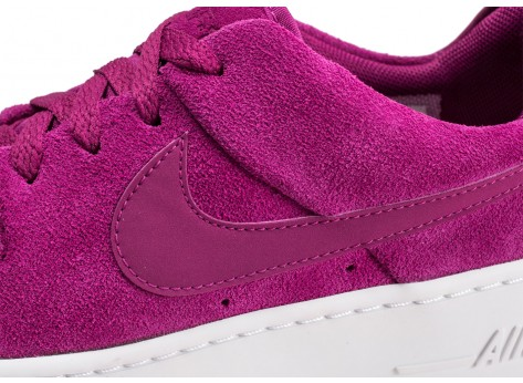 Chaussures Nike Air Force 1 Sage Low rose fuchsia femme vue dessus