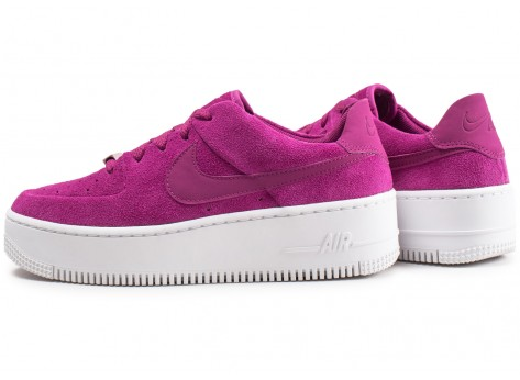 Chaussures Nike Air Force 1 Sage Low rose fuchsia femme vue extérieure