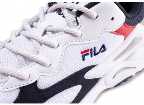 Chaussures Fila Ray Tracer blanc bleu rouge vue dessus