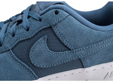 Chaussures Nike Air Force 1 Suede bleue junior vue dessus