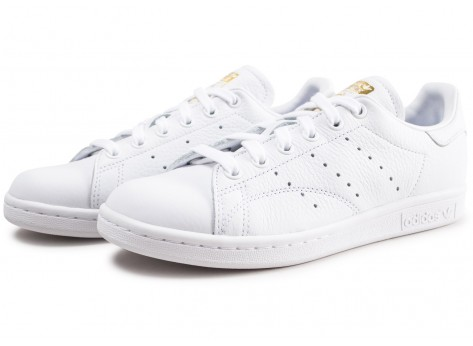 Chaussures adidas Stan Smith blanche lila et or femme vue intérieure