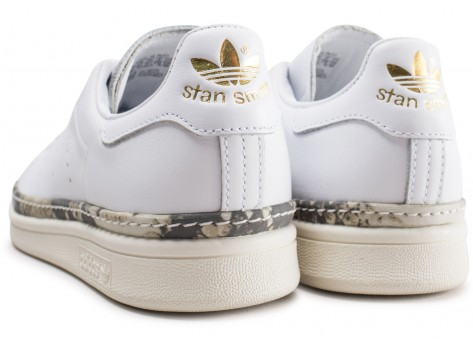 Chaussures adidas Stan Smith New Bold blanche femme vue dessous