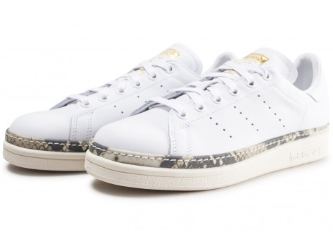 Chaussures adidas Stan Smith New Bold blanche femme vue intérieure