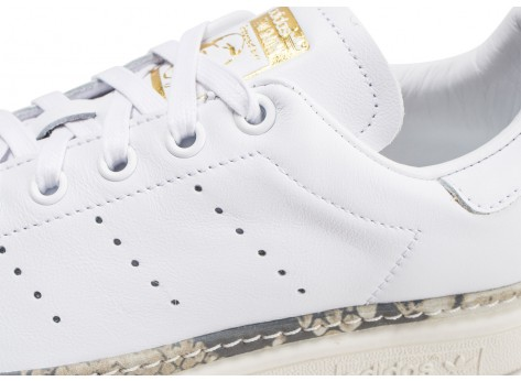 Chaussures adidas Stan Smith New Bold blanche femme vue dessus