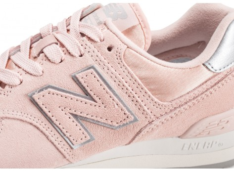 Chaussures New Balance WL574OPS rose femme vue dessus