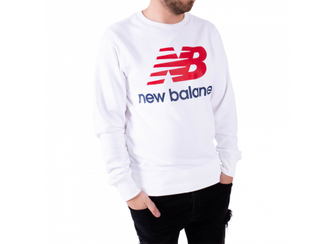 Sweat New Balance Sweat Essential Stacked blanc
