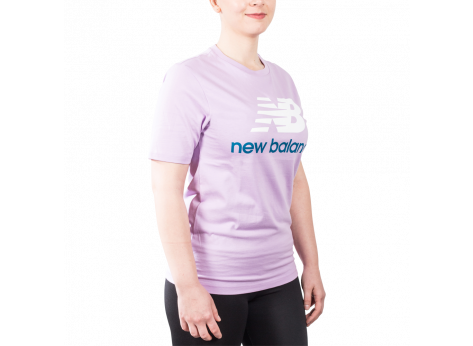 Tee-shirt New Balance T-Shirt Essential Stacked violet mixte