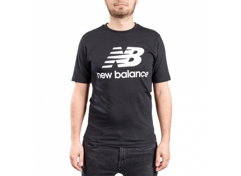 Tee-shirt New Balance T-shirt Essential Stacked noir mixte