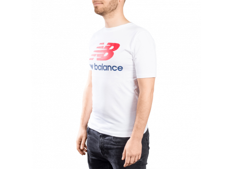 Tee-shirt New Balance T-shirt Essential Stacked blanc  mixte