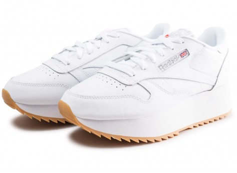 Chaussures Reebok Classic Leather Double blanche femme vue intérieure