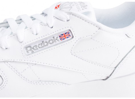 Chaussures Reebok Classic Leather Double blanche femme vue dessus