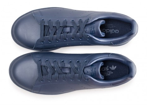 Chaussures adidas Stan Smith bleue marine vue arrière