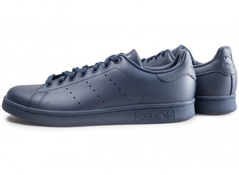 Chaussures adidas Stan Smith bleue marine vue extérieure