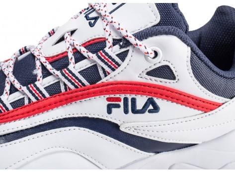 Chaussures Fila Ray blanche bleue et rouge  vue dessus