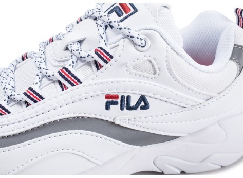 Chaussures Fila Ray blanche enfant vue dessus