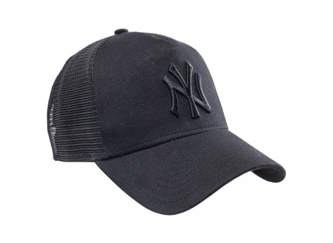 Casquettes New Era Casquette Trucker New York League noire
