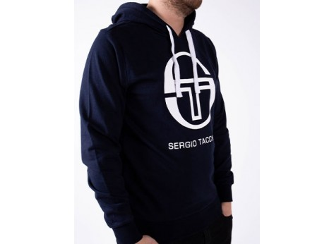 Sweat Sergio Tacchini Sweat Comma bleu et blanc