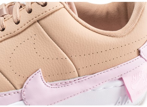 Chaussures Nike Air Force 1 Jester XX beige et rose femme vue dessus