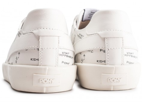 Chaussures Pony Top Star blanche  vue dessous