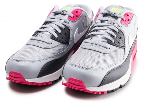 Chaussures Nike Air Max 90 Essential grise et rose vue intérieure