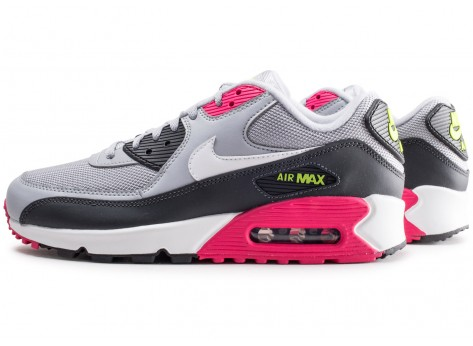 Nike Air Max 90 Essential grise et rose - Chaussures Baskets homme ...