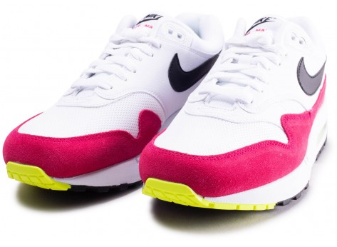 Chaussures Nike Air Max 1 blanche et rose  vue intérieure