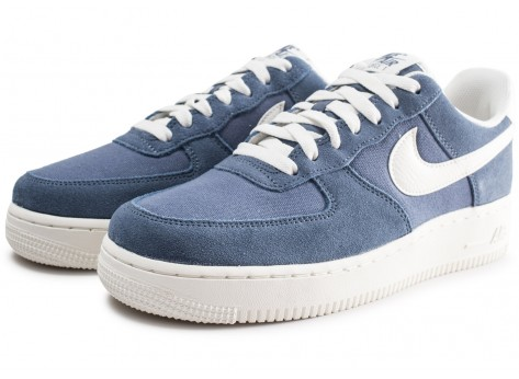 Chaussures Nike Air Force 1 '07 bleue vue intérieure