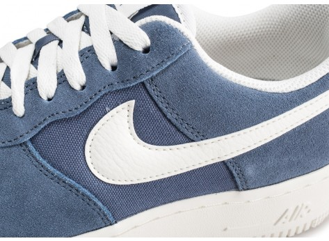 Chaussures Nike Air Force 1 '07 bleue vue dessus