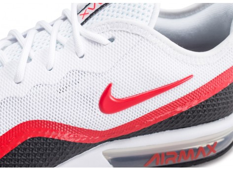 Chaussures Nike Air Max Sequent 4.5 SE blanche et rouge vue dessus