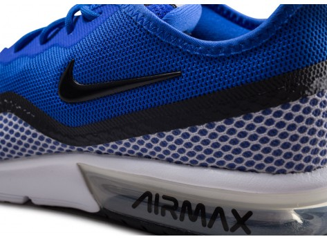 Chaussures Nike Air Max Sequent 4.5 SE bleue vue dessus