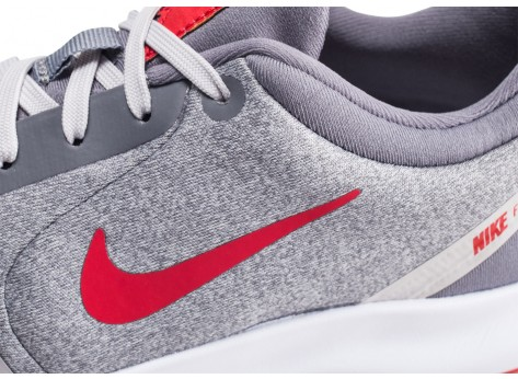 Chaussures Nike Flex Experience RN 8 grise et rouge vue dessus