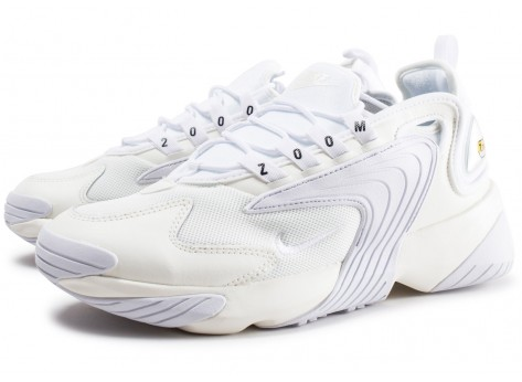 Chaussures Nike Zoom 2K blanche vue intérieure